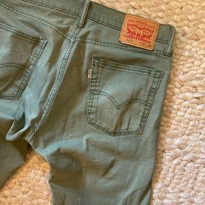 Levi's Jeans - Men's Levi's jeans 513 32 32 olive green